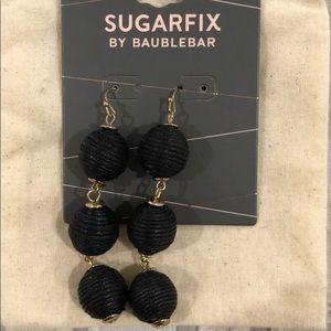Drop ball earrings